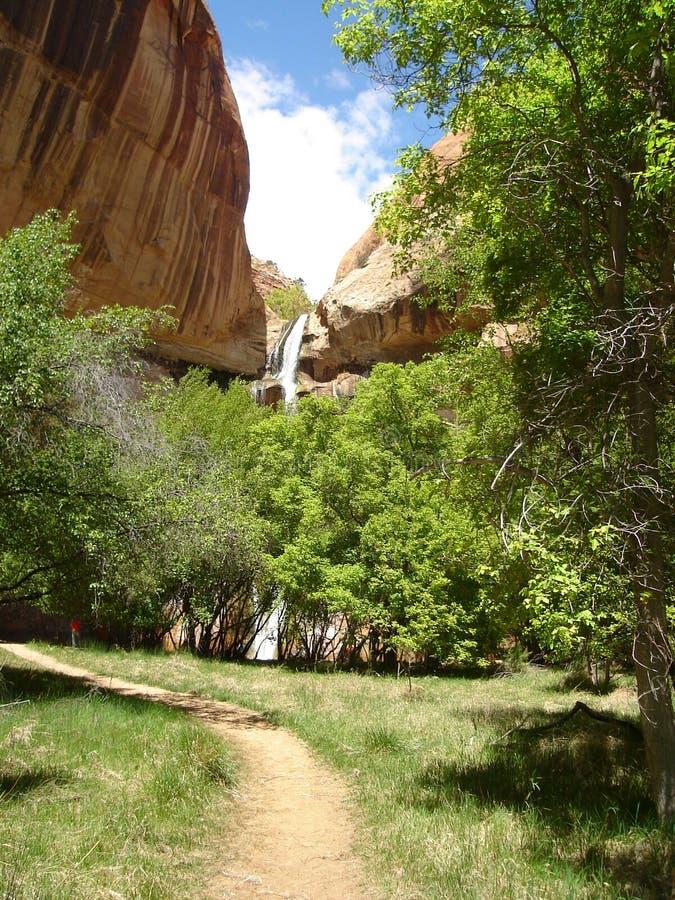 Lower Calf Creek Falls royalty free stock images