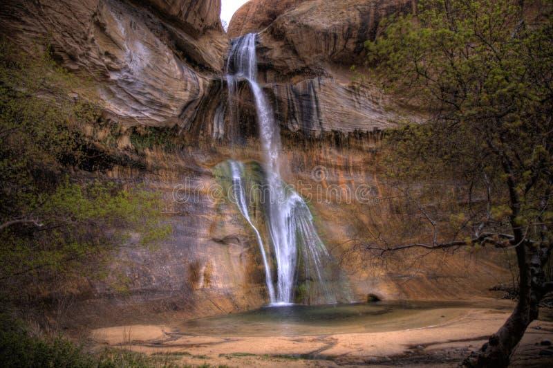 Lower Calf Creek Falls stock photos