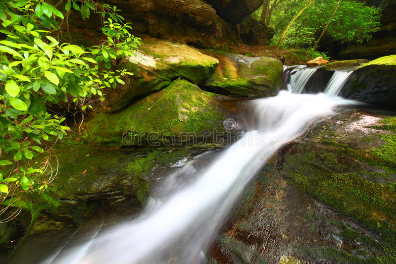 Lower Caney Creek Falls - Alabama royalty free stock image