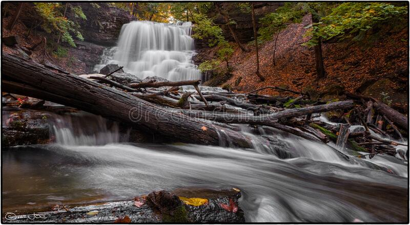 Lower DeCew Falls, St. Catharines, Ontario royalty free stock images