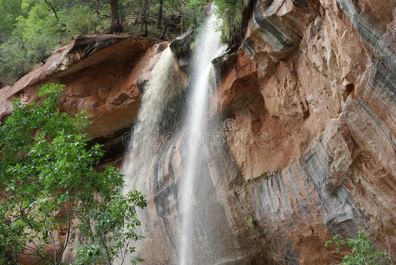 Download Lower Emerald Falls stock image. Image of zion, america - 26565515