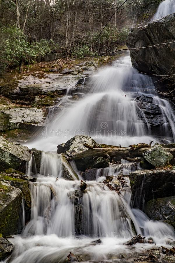 Lower Falls of Apple Orchard Falls - 2 stock image