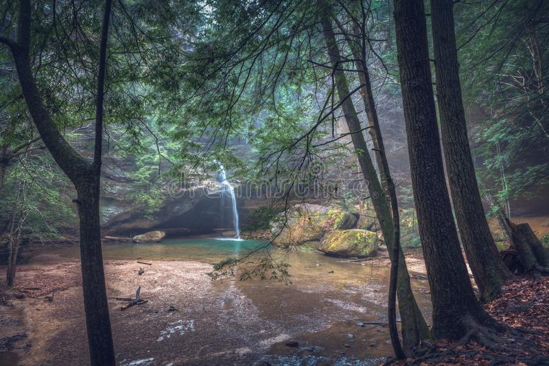 Lower Falls at Old Man`s Cave royalty free stock photography