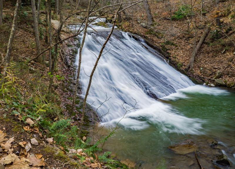 Lower Falls on Roaring Run Creek royalty free stock photography