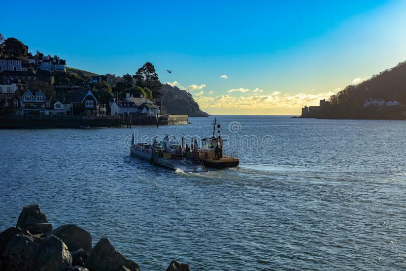 Lower Ferry crossing the river Dart royalty free stock photos