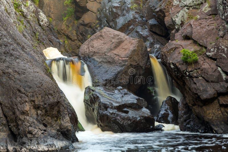 Lower Gabbro Falls - Black River, Upper Peninsula Michigan stock photo