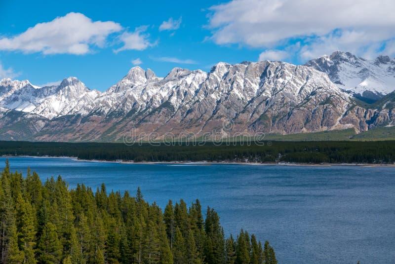 Lower Kananaskis Lake in Peter Lougheed Provincial Park, Alberta royalty free stock photography