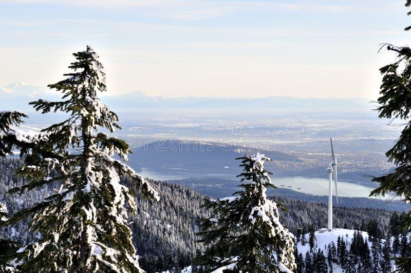 Lower Mainland. Winter View of Lower Mainland, BC stock photos
