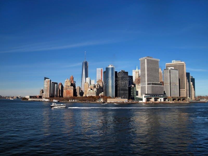 Lower Manhattan Along Waterfront royalty free stock photo
