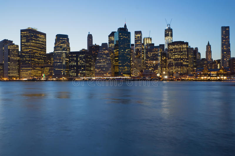 Download Lower Manhattan In Blue Stock Images - Image: 27355434