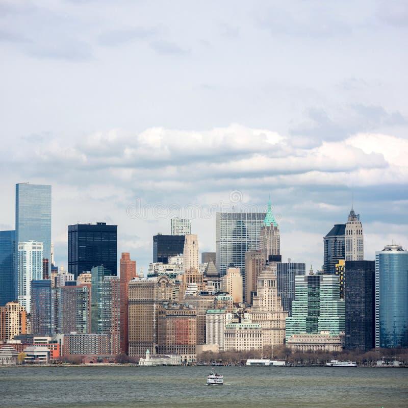 Lower Manhattan céntrico imagen de archivo