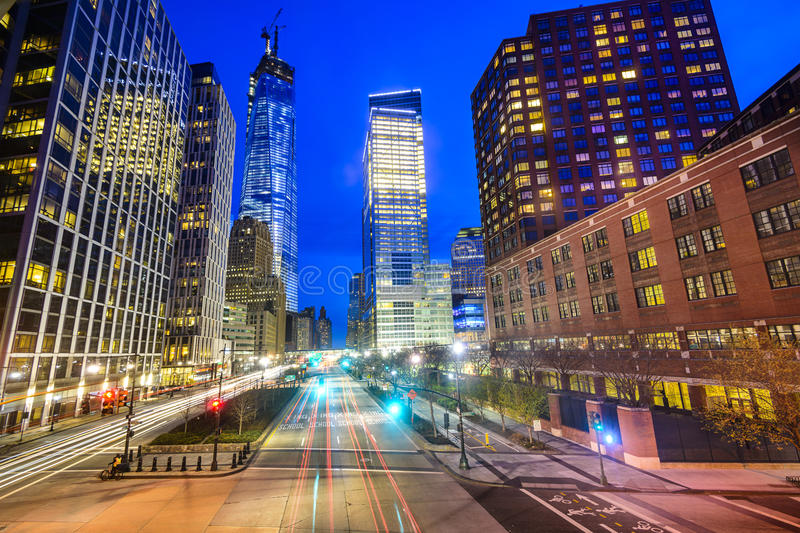 Lower Manhattan Cityscape. New York City cityscape in Lower Manhattan royalty free stock images