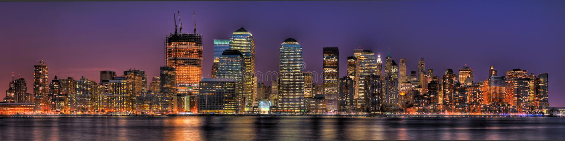Lower Manhattan dans HDR images stock