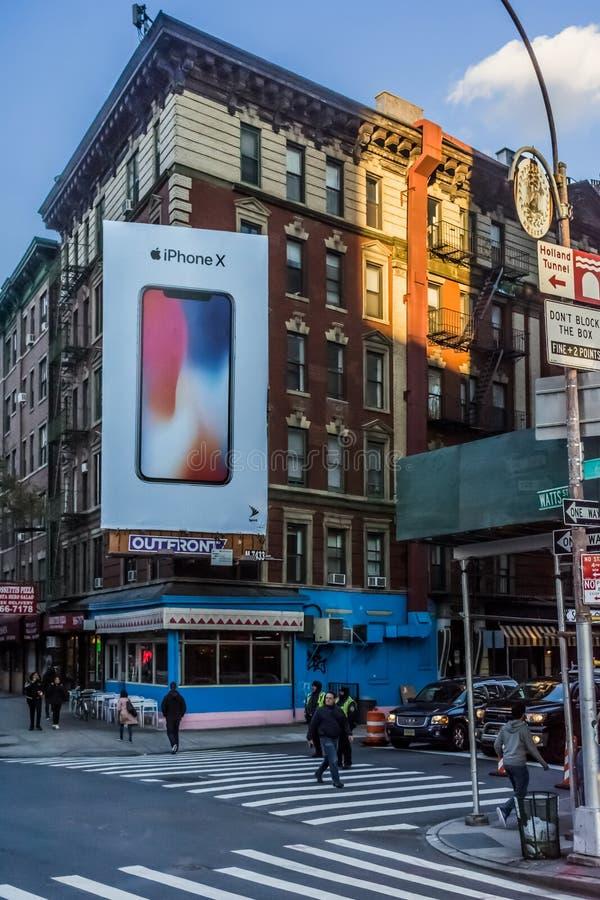 Lower Manhattan de panneau d'affichage d'Apple image libre de droits