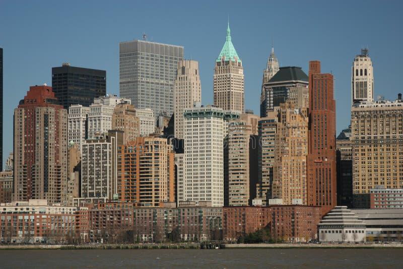 Lower Manhattan del agua foto de archivo libre de regalías