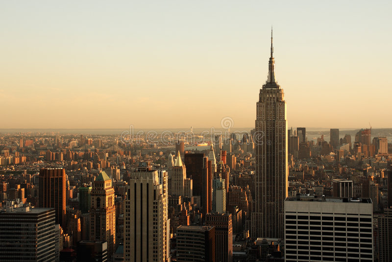 Lower Manhattan en la oscuridad foto de archivo libre de regalías