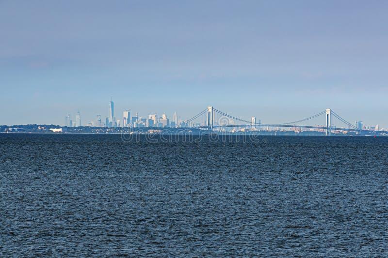 Lower Manhattan flou photo libre de droits