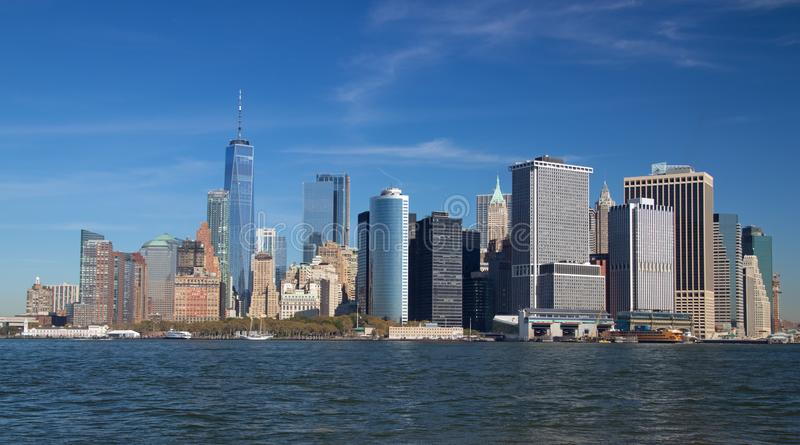 Lower Manhattan from Governors Island royalty free stock photography