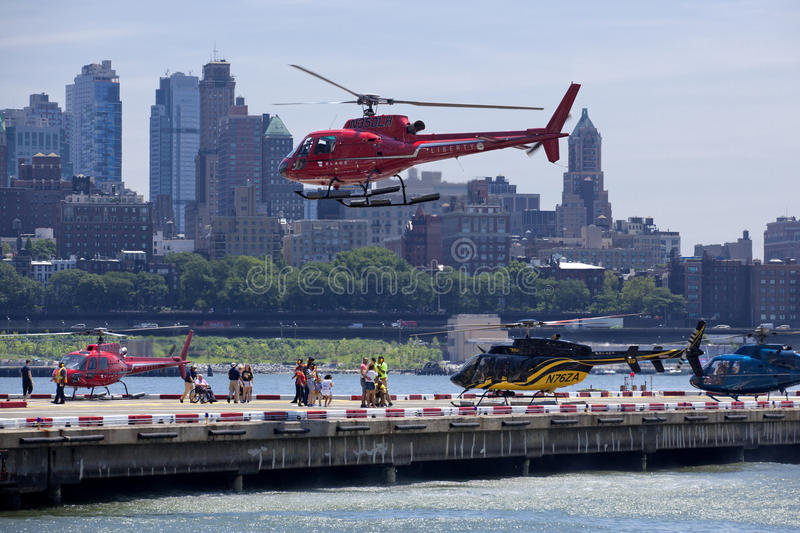 Lower Manhattan-Hubschrauber-Landeplatz - New York City stockfotografie