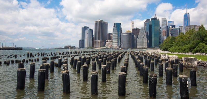 Lower Manhattan linia horyzontu, Miasto Nowy Jork, Ameryka fotografia royalty free