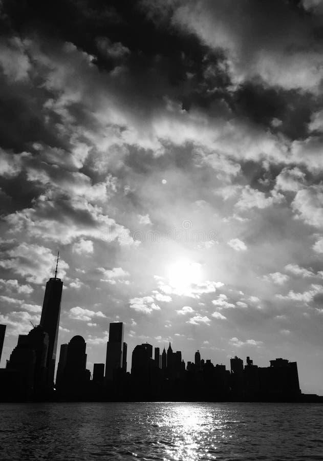 Lower Manhattan noir fotos de archivo