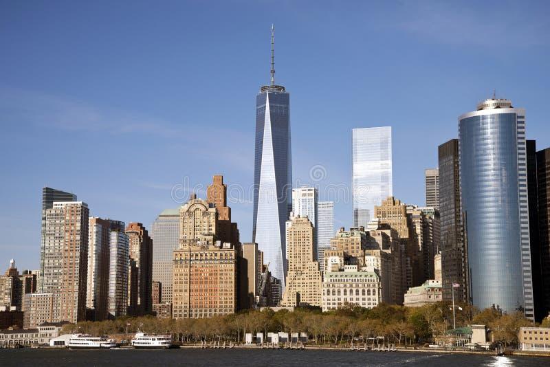 Lower Manhattan, NY stockfotos