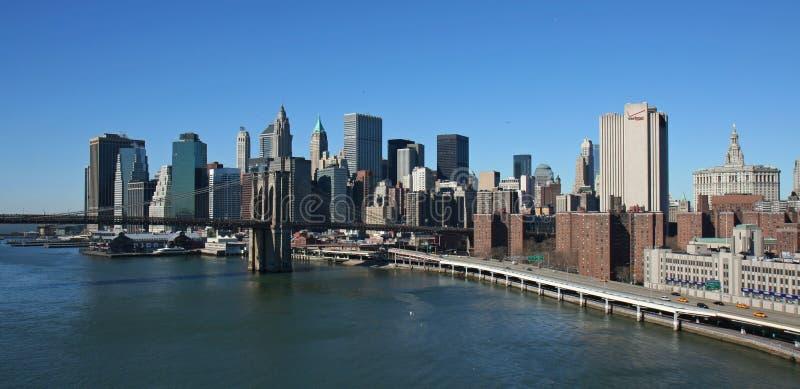 Lower Manhattan panorámico foto de archivo libre de regalías