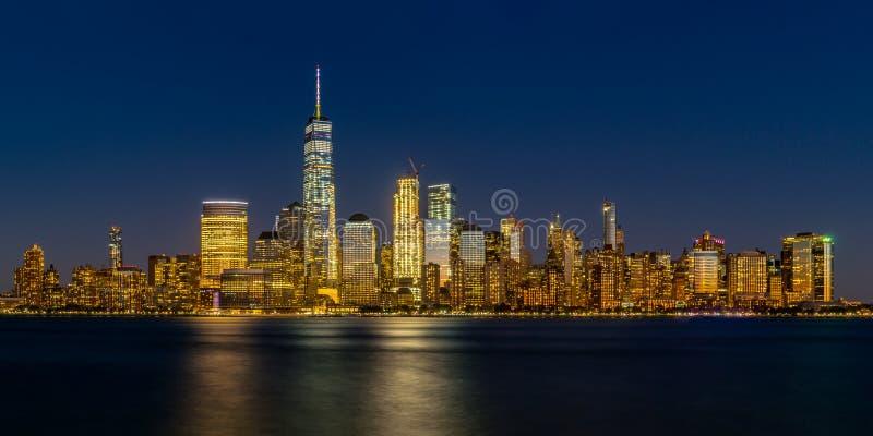 Lower Manhattan panorama stock photo