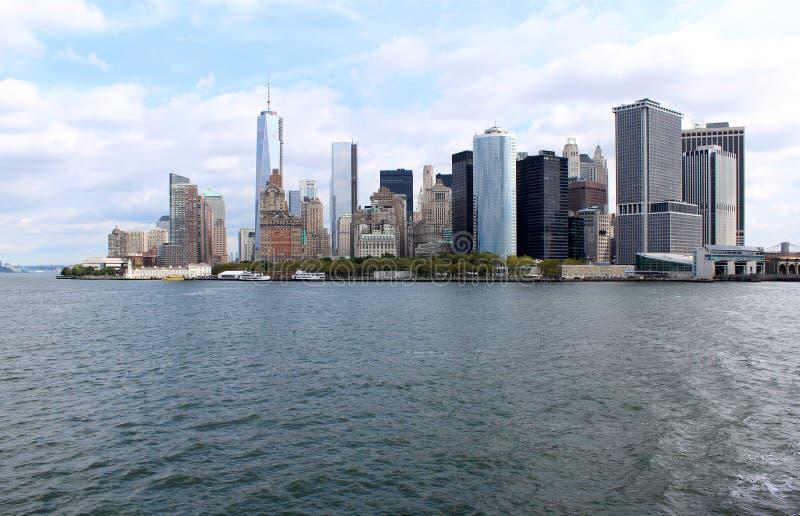 Lower Manhattan. Señales famosas de Nueva York fotografía de archivo