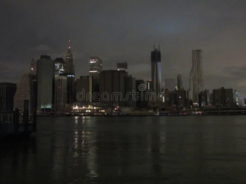 Lower Manhattan sin potencia imagen de archivo