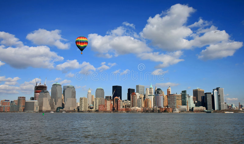 The Lower Manhattan Skyline royalty free stock images