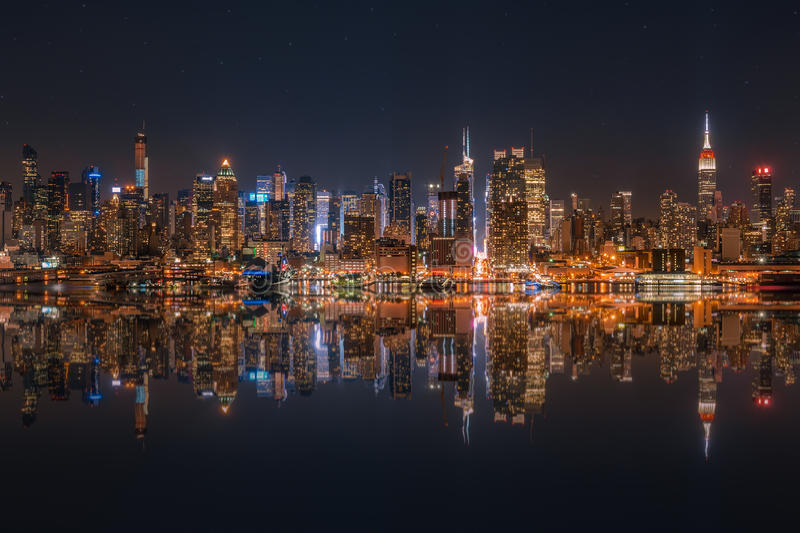 Lower Manhattan-Skyline stockfotografie