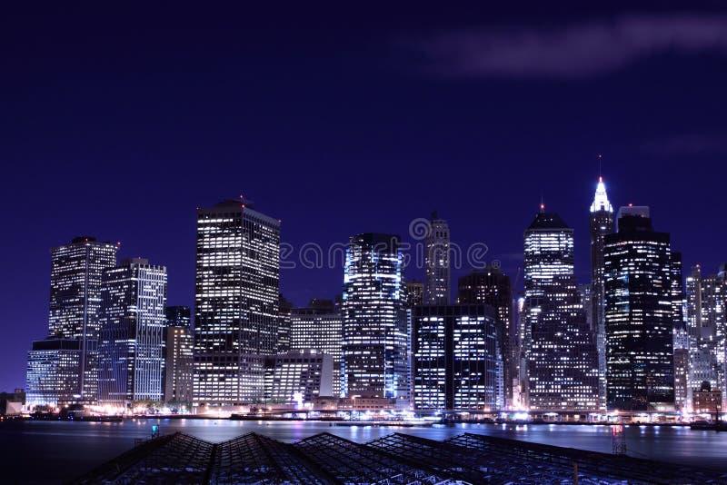 Download Lower Manhattan Skyline At Night Stock Image - Image: 13015035