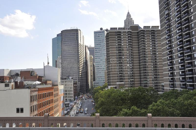 Lower Manhattan Skyscrapers from New York City in United States stock photos