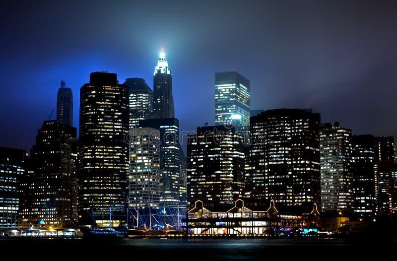 Download Lower Manhattan sunset stock image. Image of street, orange - 3351323