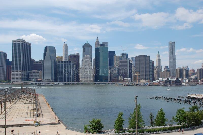 Lower Manhattan van de Hoogten van Brooklyn royalty-vrije stock afbeelding