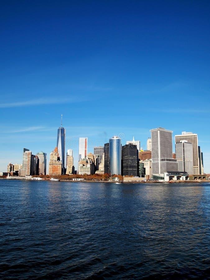 Lower Manhattan Vertical royalty free stock photos