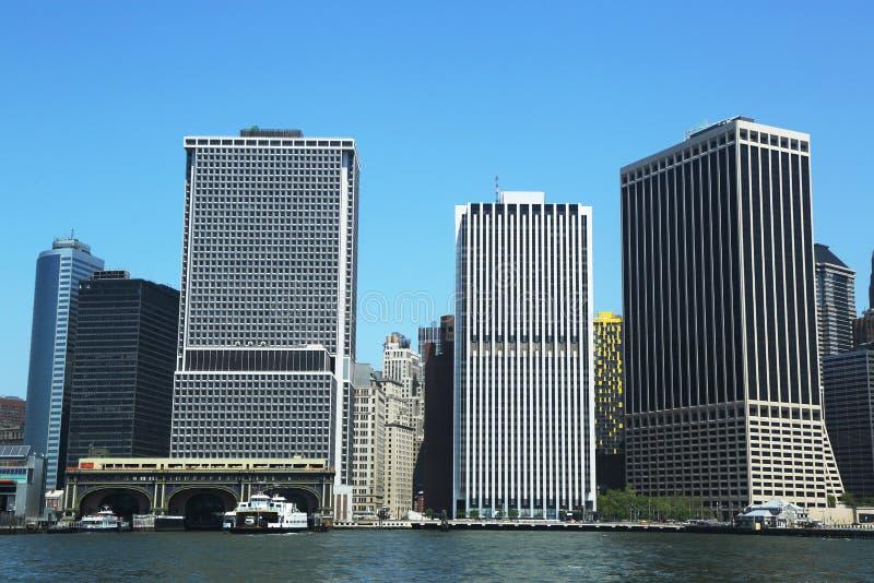 Lower Manhattan y distrito financiero. foto de archivo