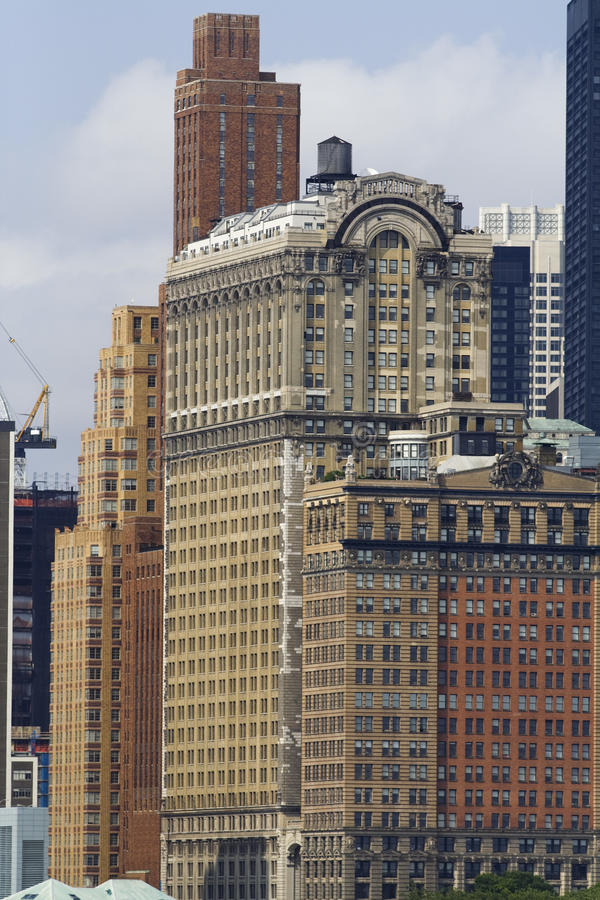 Lower Manhattanbyggnader royaltyfria foton