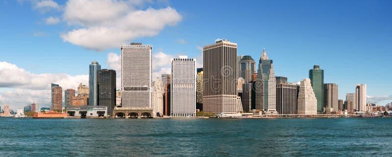 Lower Manhattanhorisont - New York City arkivbild