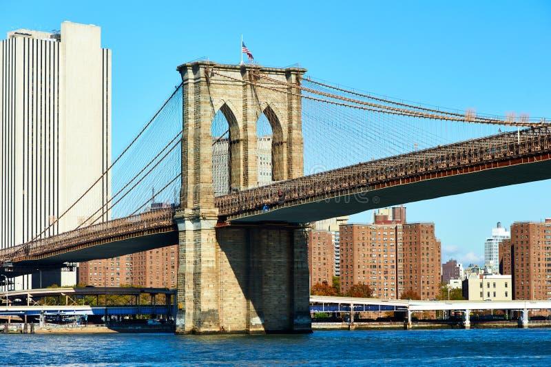Lower Manhattanhorisontsikt från Brooklyn royaltyfri fotografi