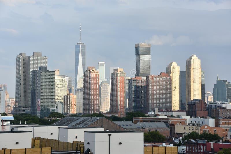 Lower Manhattanhorizon in de Stad van New York royalty-vrije stock afbeelding