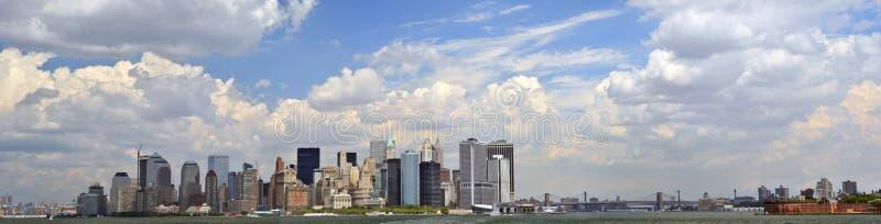 Lower Manhattanpanorama Stock Afbeeldingen
