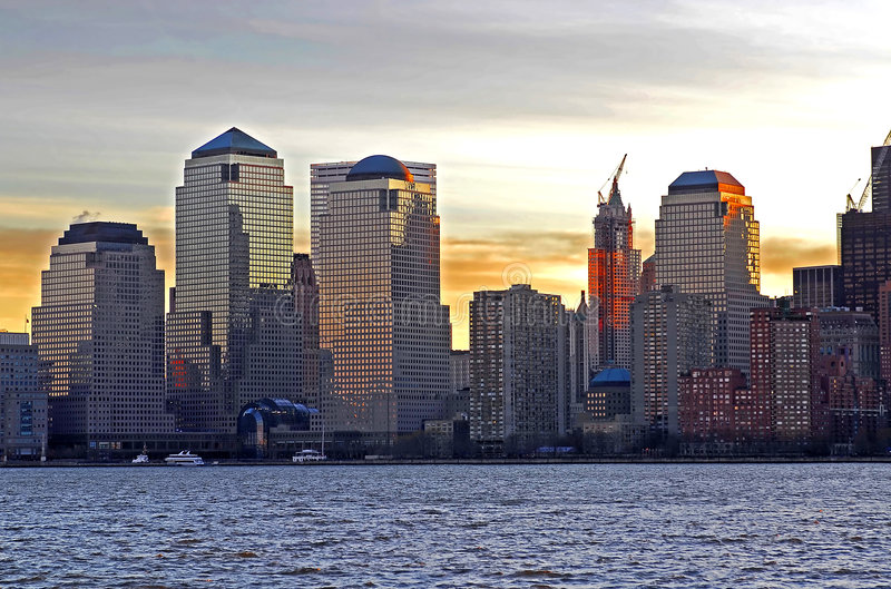 Lower Manhatten royalty free stock photos