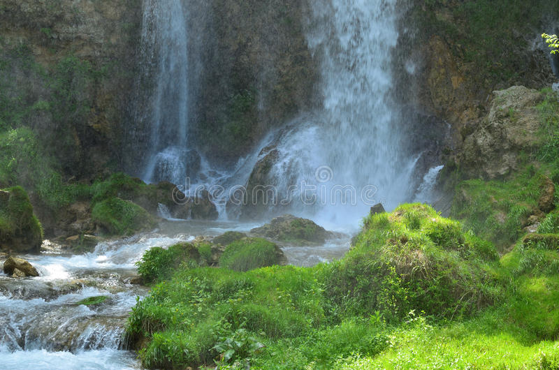 Lower Part of Gostilje Waterfall royalty free stock photography