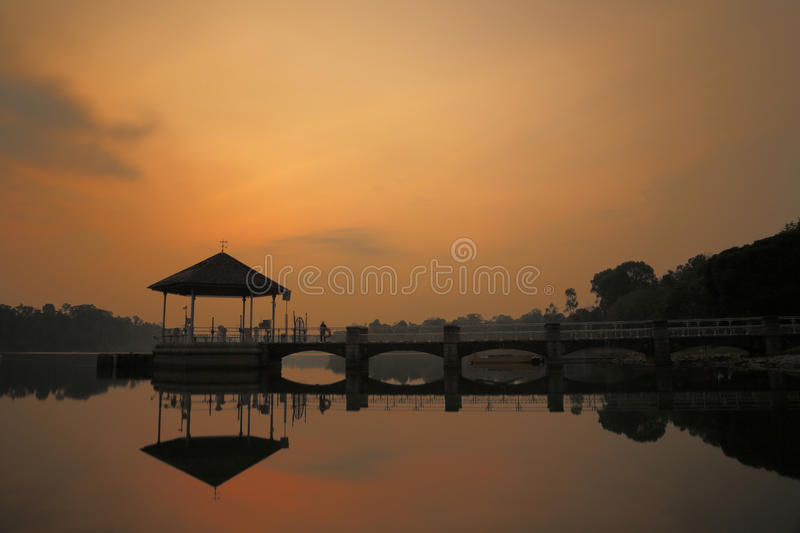Lower Pierce Reservoir 2. Reservoir body of water in SIngapore stock photography