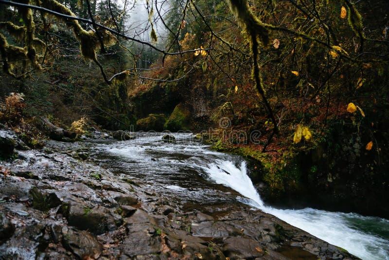 Lower Punch Bowl Falls, Oregon royalty free stock photo