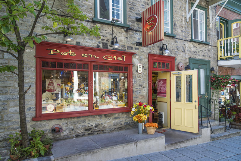 Lower Quebec City Canada. Street scene in the lower Quebec City royalty free stock photos