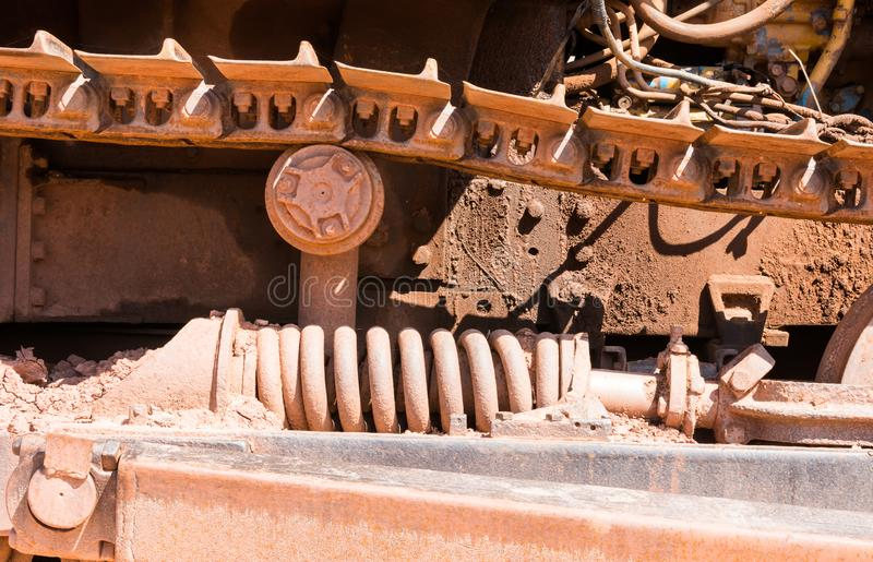 Lower range of crawler tractors stock image