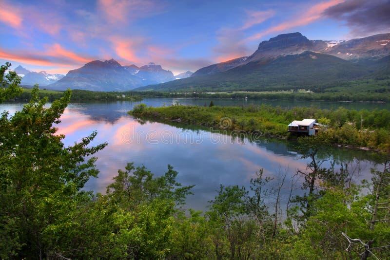 Lower Saint Mary lake royalty free stock photos